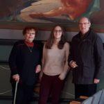 L'arrière-petite fille du peintre Cadena découvre la salle des Mariages